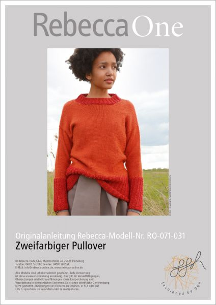 Strickanleitung - Orange-roter Pullover