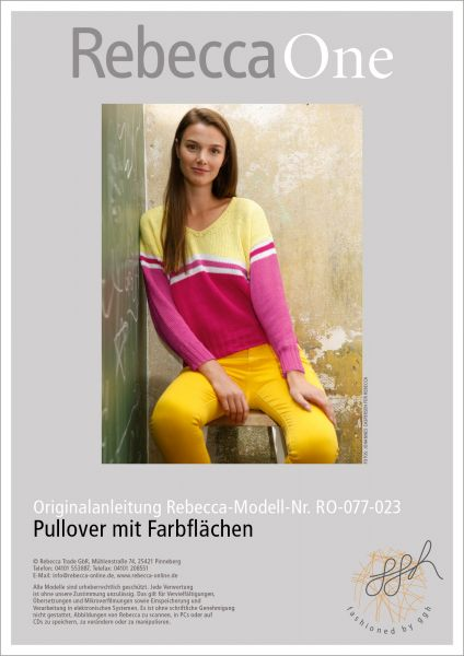 Strickanleitung - Pullover mit Farbflächen