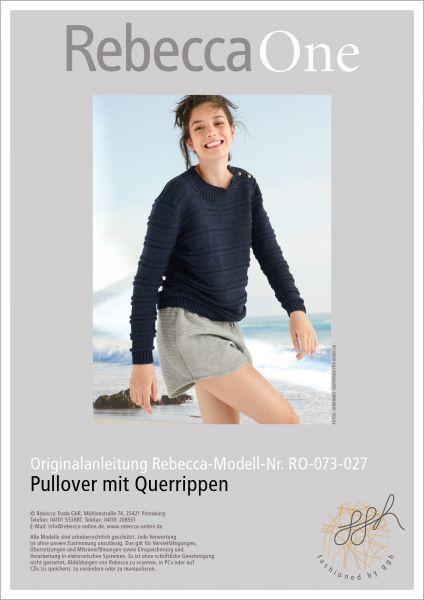 Strickanleitung - Pullover mit Querrippen