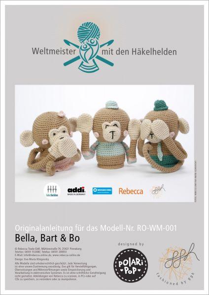 """Häkelanleitung """"Bella, Bart und Bo"""""""