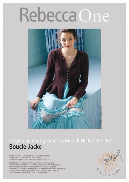 Strickanleitung - Bouclé-Jacke