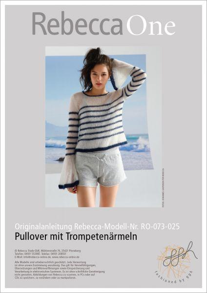Strickanleitung - Pullover mit Trompetenärmeln